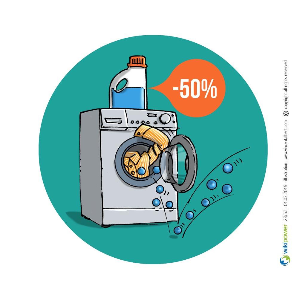 Utilisez des balles de lavage et de séchage